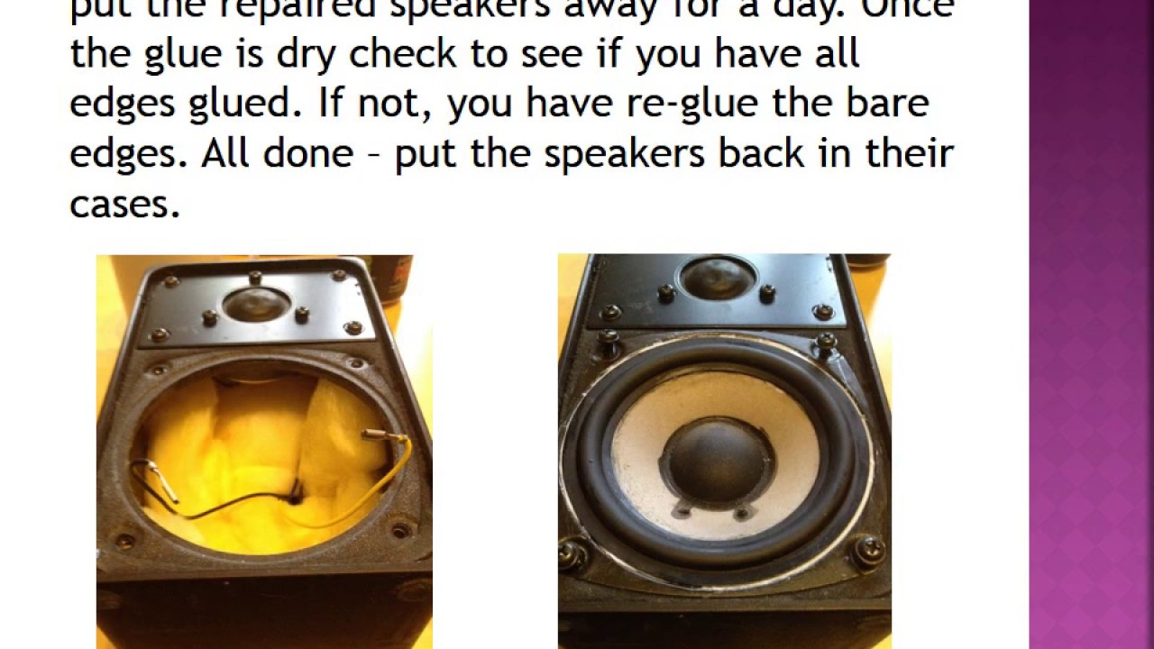 How to repair your blown speaker - repair and re-use