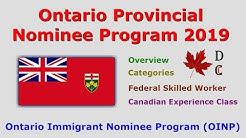 Ontario Immigrant Nominee Program 2019 | OINP 2019 | Ontario PNP