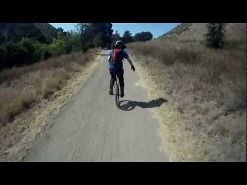 """""""Unicycle Tutorial""""  Kris Holm/Schlumpf Geared Unicycle Hub and High Speed Unicycling Muni Downhill"""