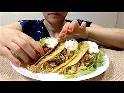 Asmr Crunchy Tacos Eating Show Mukbang Fast Forward Eating Eating Like A Savage