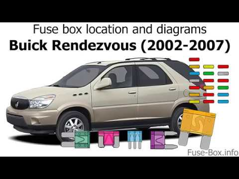 fuse box location and diagrams: buick rendezvous (2002-2007)
