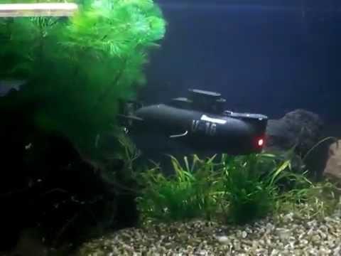 RCVIDS - Graupner U-16 Mini Submarine in the Aquarium