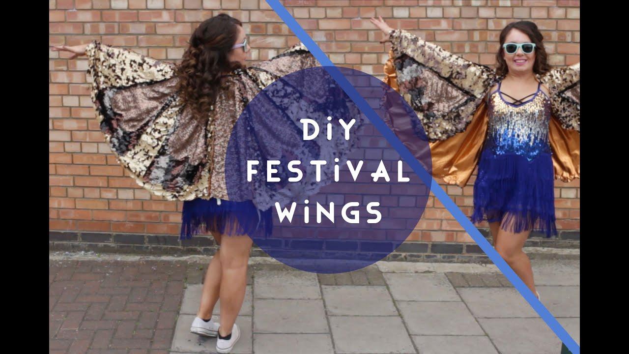 Diy costume sequin bird wings youtube diy costume sequin bird wings solutioingenieria Image collections