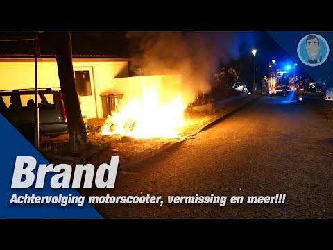 Brand, achtervolging motorscooter, vermissing en meer tijdens de nachtdienst. Politie Jan-Willem