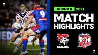 Knights v Roosters Match Highlights   Round 8, 2021   Telstra Premiership   NRL