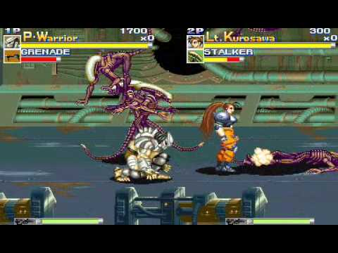 Alien vs Predator Arcade Game Intro