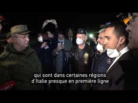 Di Maio remercie les militaires russes venus en Italie pour aider le pays à combattre la pandémie