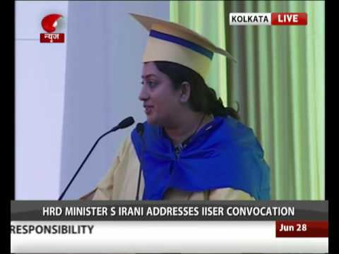 HRD Minister Smriti Irani addresses IISER convocation