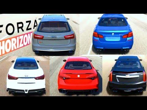 Audi RS6, Alfa Giulia, BMW M5, Berline Sportive - Forza Horizon 4 thumbnail