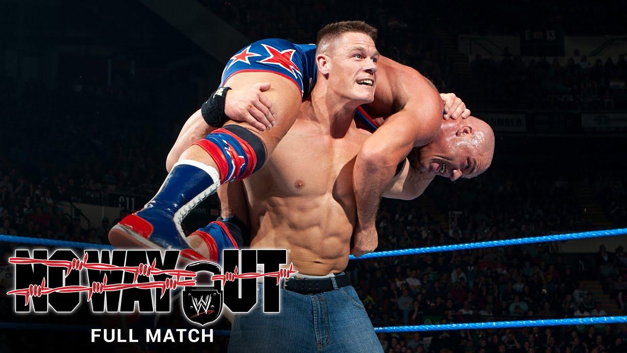 FULL MATCH - John Cena vs. Kurt Angle: WWE No Way Out 2005 - YouTube