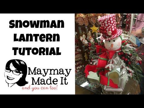 Snowman Lantern Tutorial