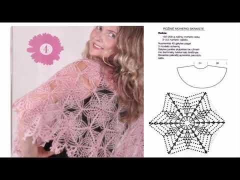 Узоры вязания крючком шали и палантины схемы и описания