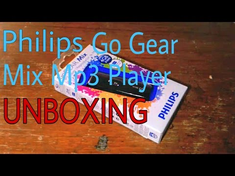 Philips GoGear Mix MP3 Player 4GB (Black) UNBOXING and Quick User Guide (INDIA)