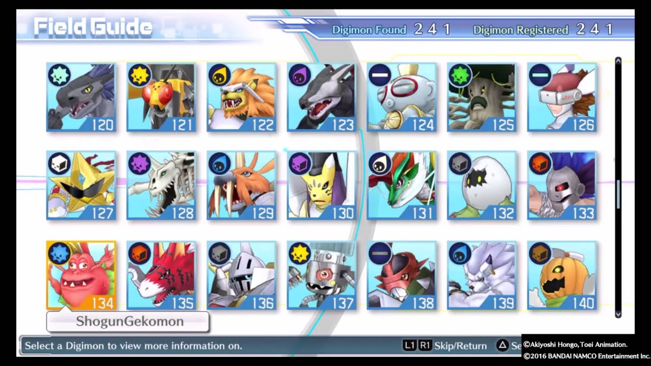 Digimon Story Cyber Sleuth Evolution Chart English