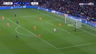 اهداف مباراة الجنون برشلونه ضد اولمبيك ليون 5-1تالق ليو ميسي