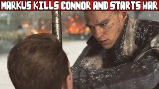 Markus Kills Connor and Starts a War with Humans DETROIT BECOME HUMAN