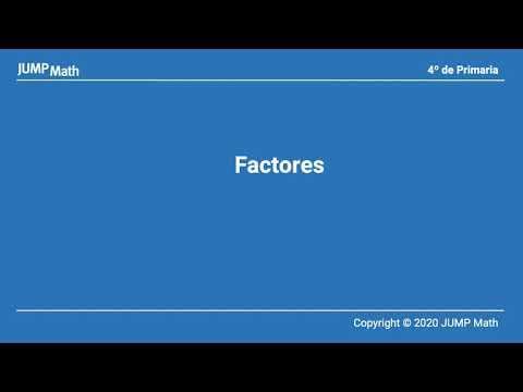 4. Unidad 6. Factores