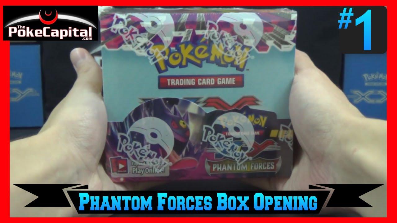 Pokemon xy phantom forces booster box opening w 36 packs youtube
