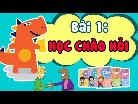 tiếng anh cho học sinh tiểu học - Học Cách Chào Hỏi - Sách Cùng Khủng Long học Tiếng Anh| Bài 1 | Tiếng Anh lớp 1