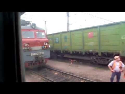 Отправление поезда I35A Санкт-Петербург - Махачкала со станции Елец.