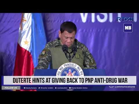 Duterte hints at giving back to PNP anti-drug war