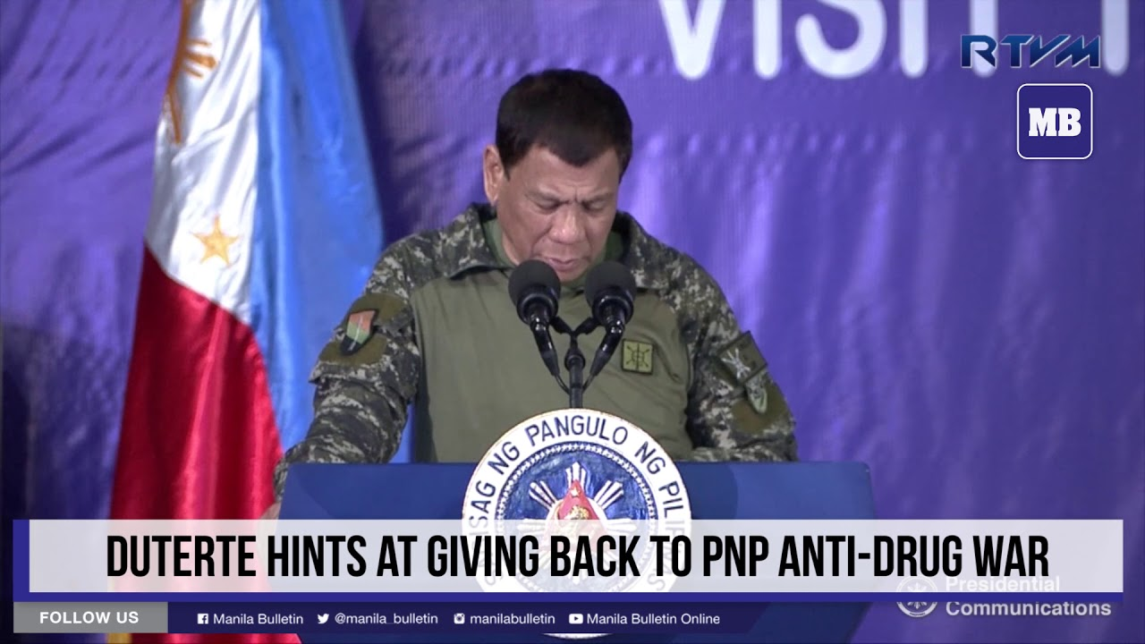 Duterte hints at giving back to PNP anti-drug war