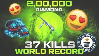 Crazy Bunny Mp40 with 37 Kills World Record Solo Gameplay - Garena Free Fire
