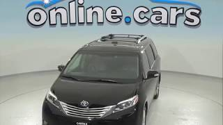 A96993CT Used 2015 Toyota Sienna Passenger Mini Van Black Test Drive, Review, For Sale