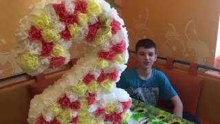 Изготовление цифры на день рождения Настеньки из салфеток своими руками. #пиньята # рукоделие