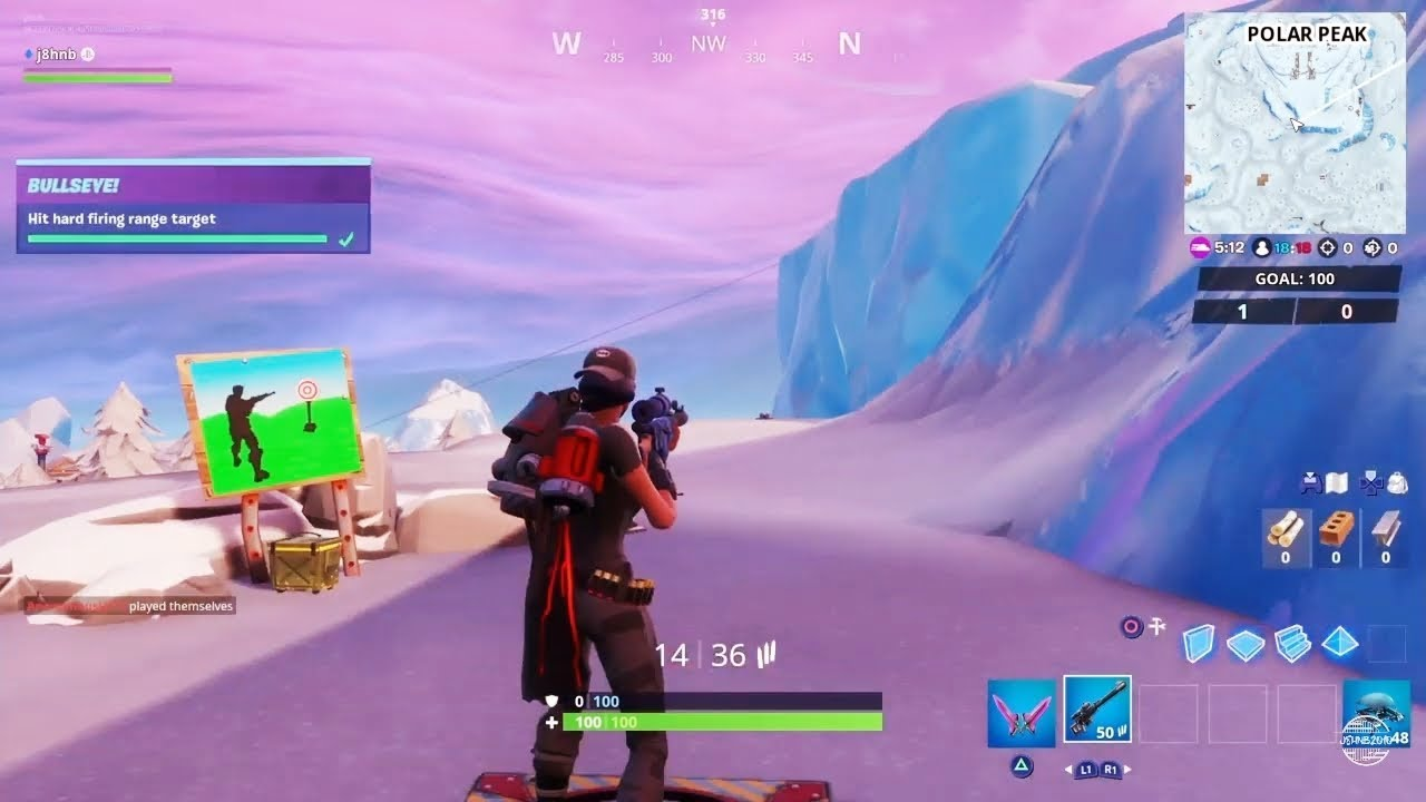 Fortnite Hit Easy Hard Firing Range Targets Bullseye Challenges