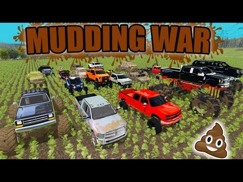 MUDDING MADNESS | ALL MY MODS GO MUDDIN' | MONSTER TRUCKS + DIESEL TRUCKS | FARMING SIMULATOR 2017