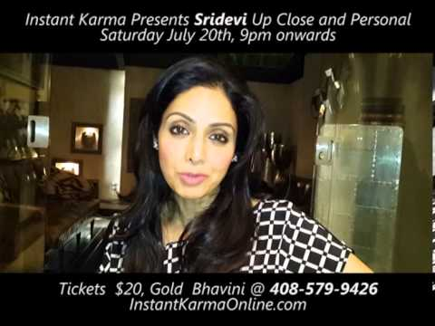 Sridevi Up Close and Personal July 20th ,Palo Alto Bay Area