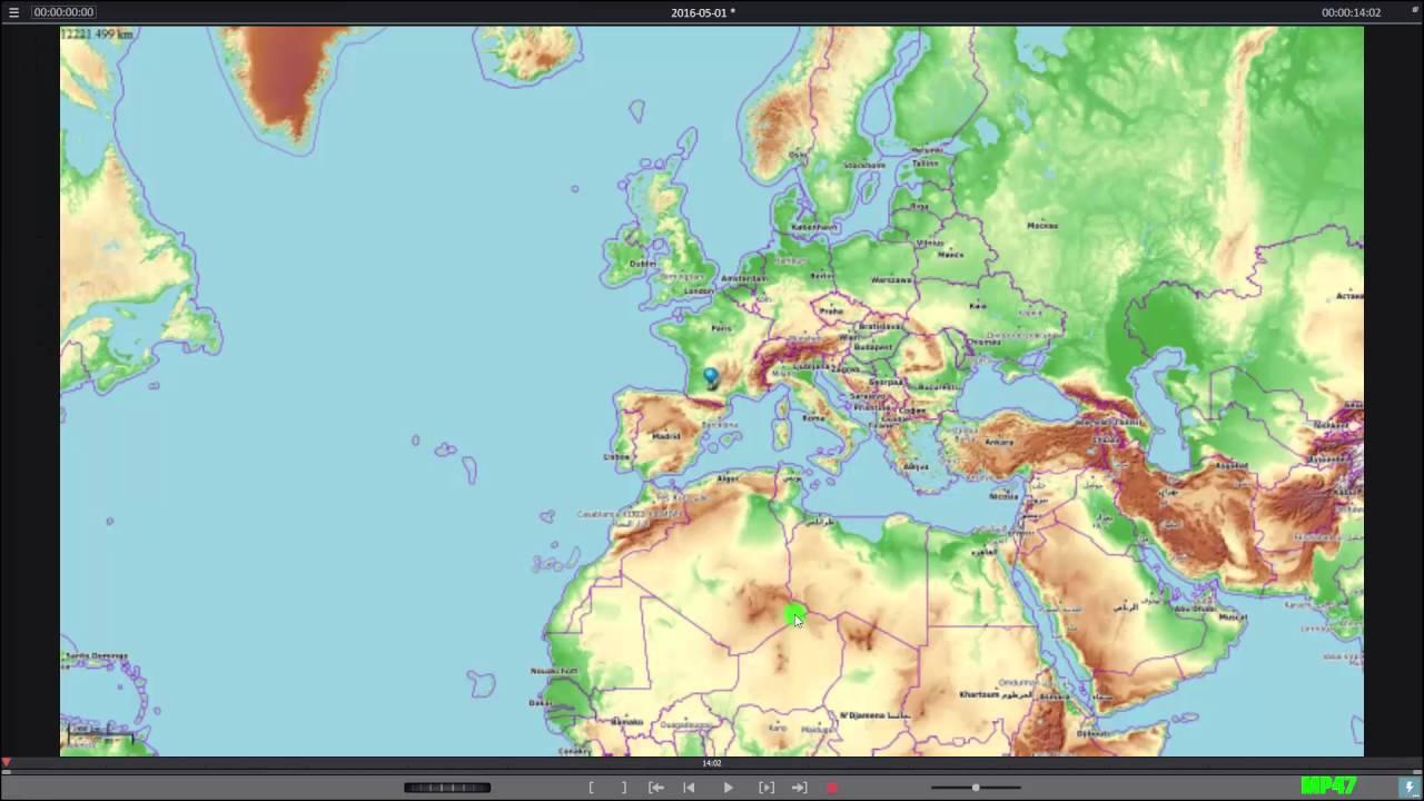 créer un itinéraire animé sur une carte 5.comment créer un itinéraire de voyage animé avec MVD plus et