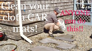 How to Clean Cloth Floor Mats!! You CAN do this!