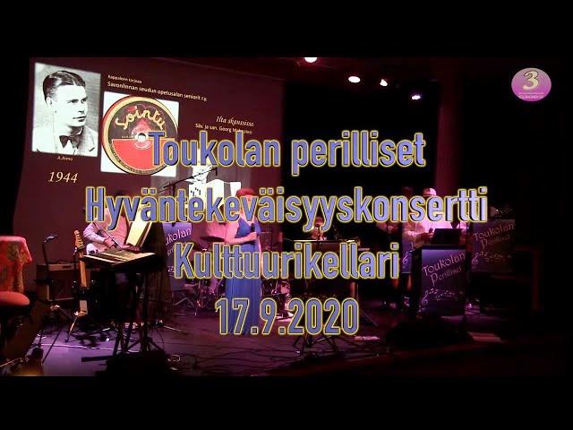 Hyväntekeväisyyskonsertti - kulttuurikellari Savonlinna. 19.9.2020