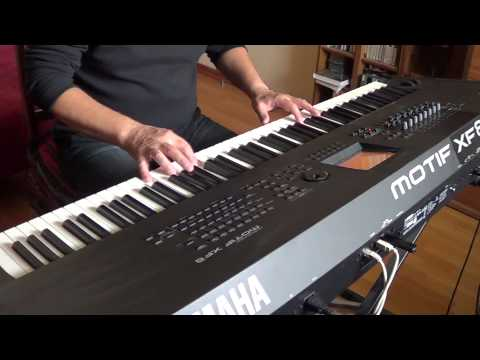 Stay With Me. Romantic piano music. Yamaha Motif XF8
