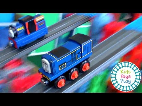 Thomas the Train Sodor Super Station Speedway | Thomas and Friends Mystery Wheel Challenge