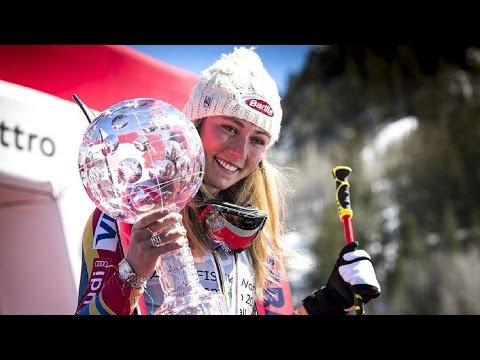 Mikaela Shiffrin • Overall Title Award Ceremony • 19.03.2017 [HD]