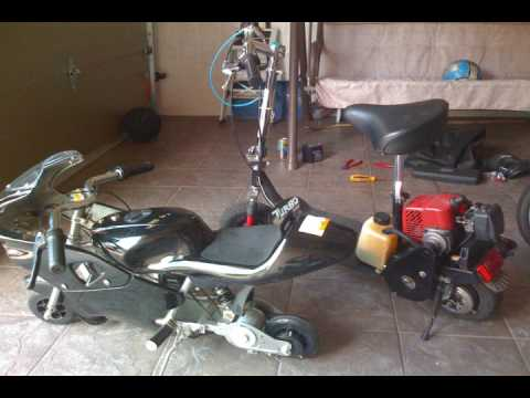 gas scooter broken electric pocketbike teamxiyo youtube. Black Bedroom Furniture Sets. Home Design Ideas
