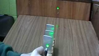 To Show that Light Travels in Straight Lines