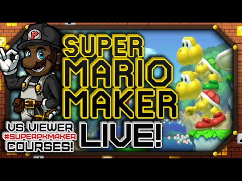 Playing Viewer Courses! #SuperPKMaker || Super Mario Maker LIVE 9/20/15 (Let's Play Wii U Gameplay)