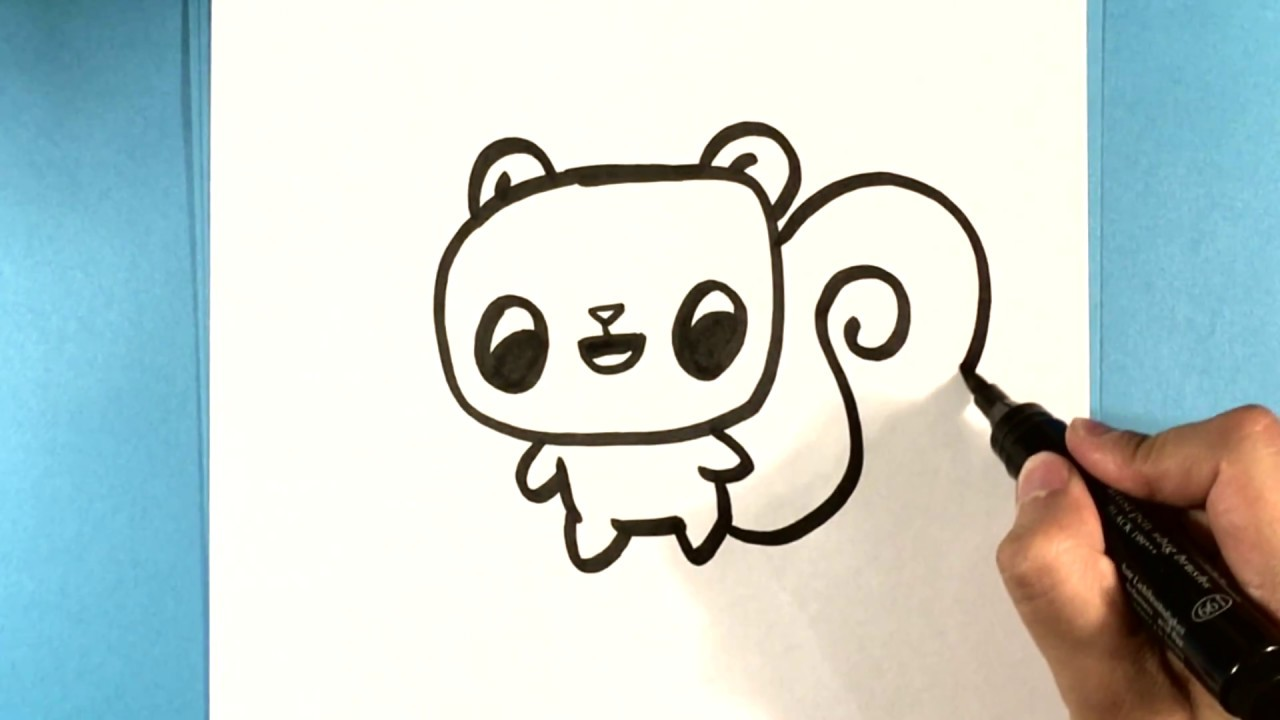 How To Draw A Squirrel Cute How To Draw Easy Things