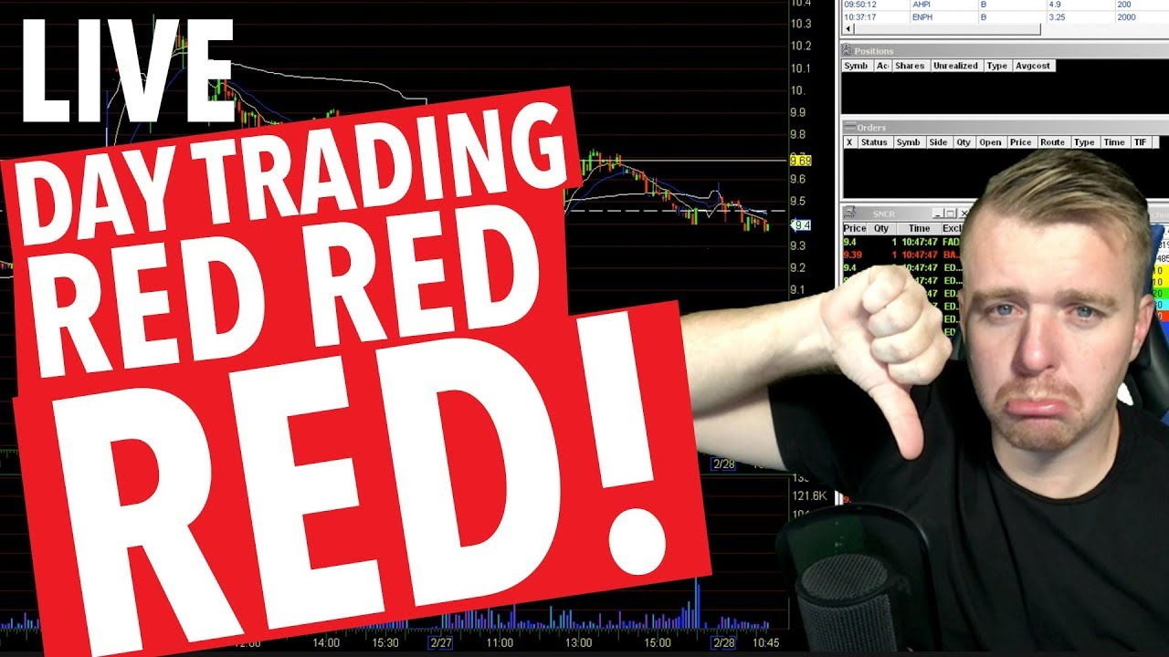 day 30 live day trading  red dayyyy