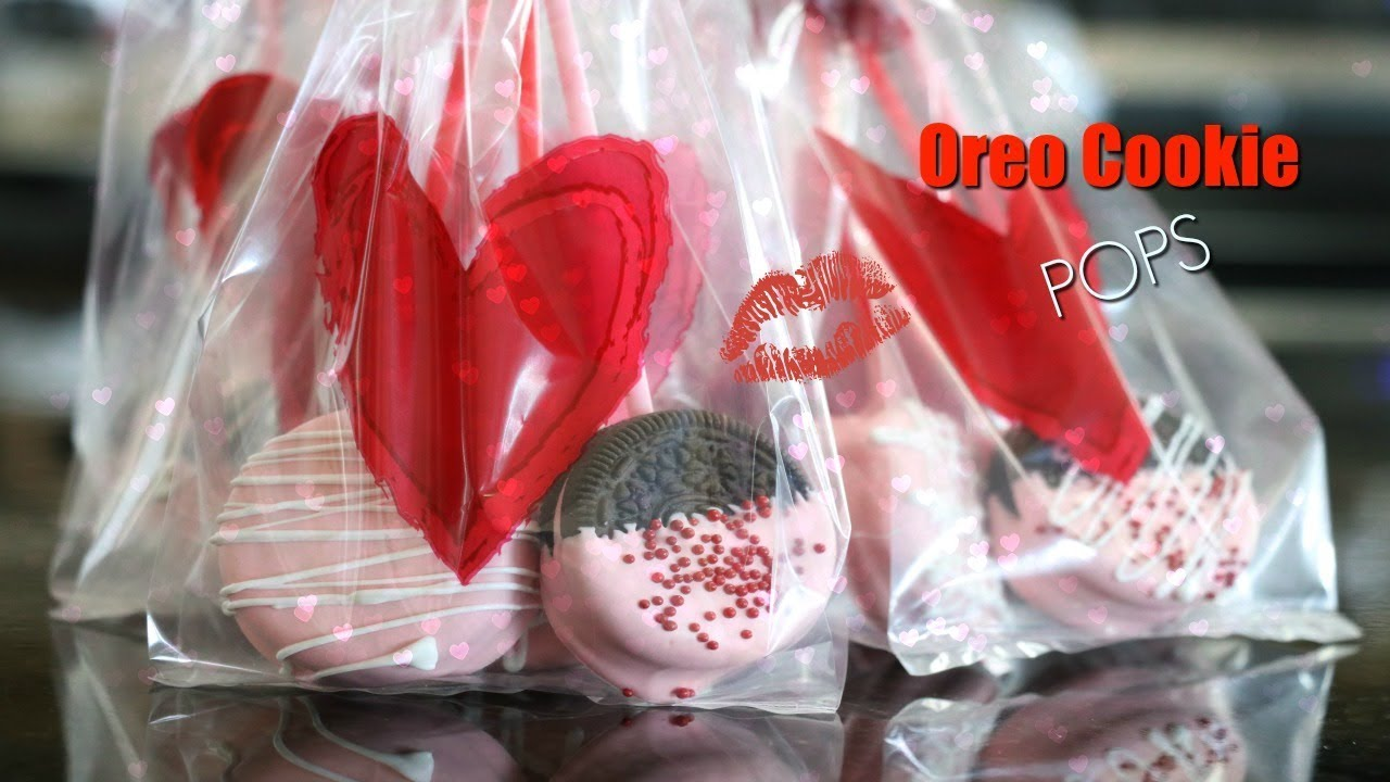 Oreo Cookie Pops | No Bake for Valentine\'s Day - YouTube