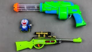 GUNS BOX of TOYS for KIDS !! Learn Colors with Doraemon and Toy Guns Toys for Kids Nursery Rhymes