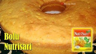 Bolu Nutrisari - Resep Bolu Panggang Nutrisari