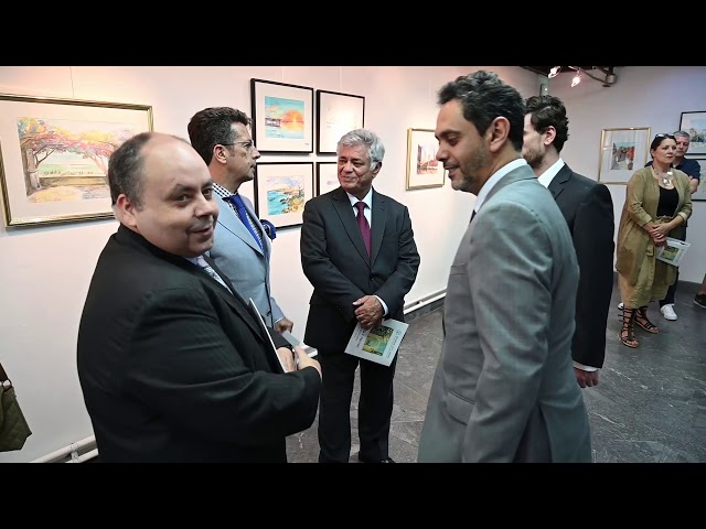 Ambassador of Tunisia Opens Exhibition Mediterraneo