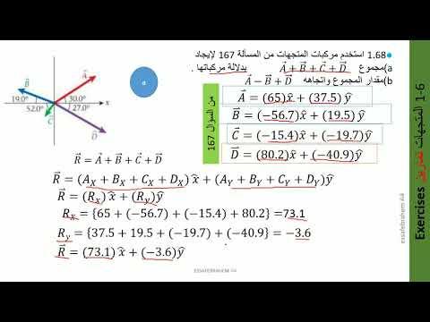 فيزياء AP Physicsميكانيكا الجسيمات النقطية الجزء1 تدريبات المتجهات 68 -1