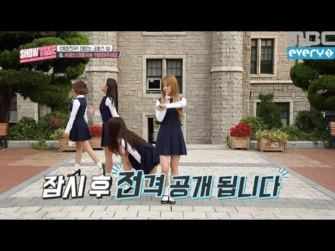 (Showtime MAMAMOOXGFRIEND EP.5) MAMAOO dance in groups like  australopithecine