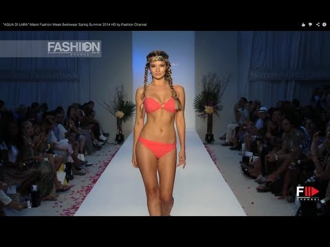 "Fashion Show ""AQUA DI LARA"" Miami Fashion Week Swimwear Spring Summer 2014 HD by Fashion Channel"